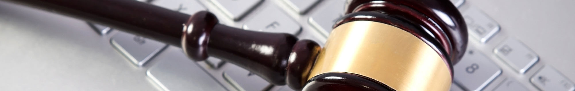 internet law - gavel on a keyboard